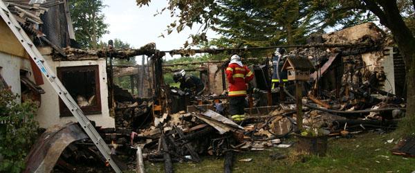 Mand omkom ved gårdbrand i Lyngså