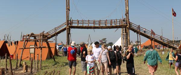 Sæbygaard Spejderne nyder livet på Spejdernes Lejr