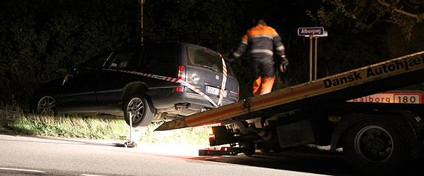 Udenlandsk indregistreret bil forulykket tirsdag aften