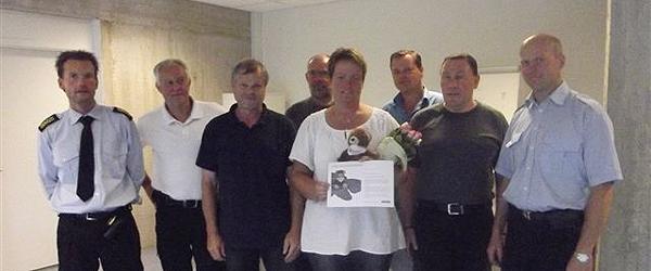 En kær kollega fik trivselsprisen for juli