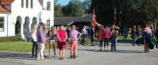Eleverne i hus på Hørby Efterskole