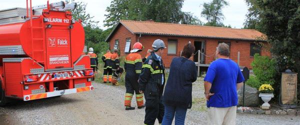 Brand i ejendom på Aahavevej i Voerså