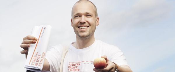Fremskridt fejres med gratis æbler