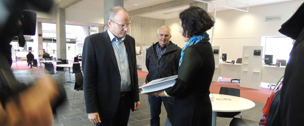 Borgmester Lars Møller fik besøg fra Sæby