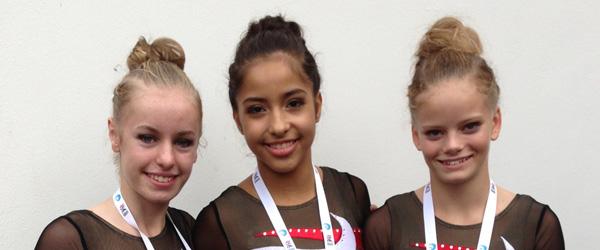 3 piger fra Springteam Sæby hentede sølvmedalje…