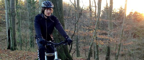 Hørby Efterskole med på mountainbike