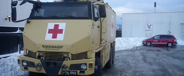 Militærambulancer klar til snestorm