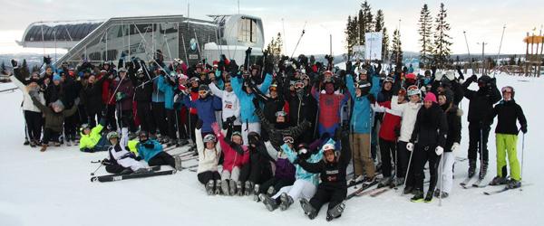 Elever fra Stidsholt på vellykket skitur til Hafjell