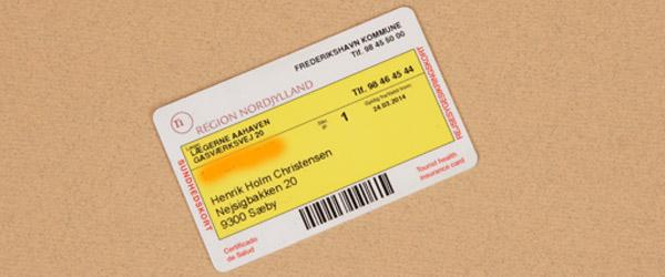 Dit gule sundhedskort skal skiftes ud