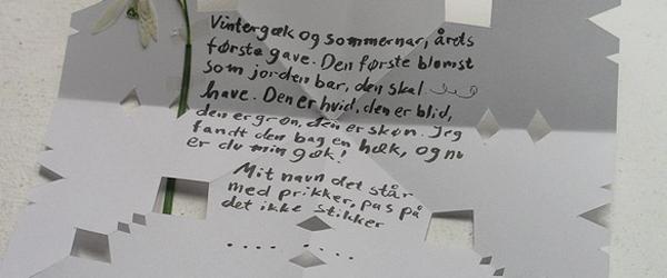 Send et levende gækkebrev fra Sæby Torv