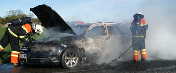 Audi A6 Avant udbrændte totalt…