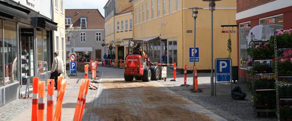 Belægningsarbejdet i Grønnegade færdig før tid