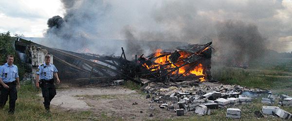 Startkabler skyld i brand på Strengsholtvej i Lyngså