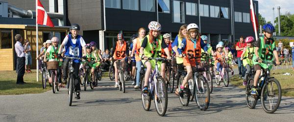 Cykelsponsorrally på Grøns Køreskole