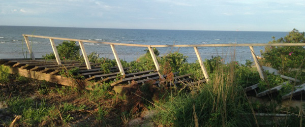 Trappe til stranden fjernet<br>…