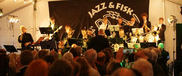 Teltet var fyldt til Jazzfestival på Sæby Havn