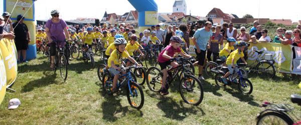 Kids Tour Børnecykelløb fredag tiltrak mange turister