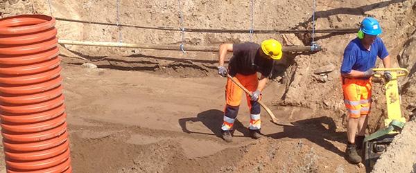 Dyb udgravning på Rosenvej i Sæby
