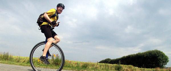 1000 km på ethjulet cykel til fordel for Muskelsvindsfonden