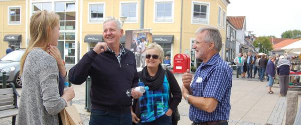 Rotary dag på Sæby Torv med mange besøgende