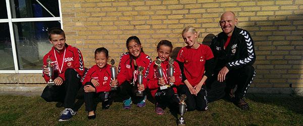 6 guldmedaljer og 1 sølvmedalje til Søhestens Pokal Cup