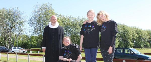 Børnekoret Heavenly D øver på Stensnæsskolen