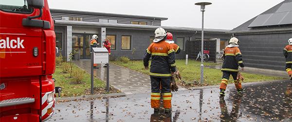 Pizza udløste brandalarm på Mariested