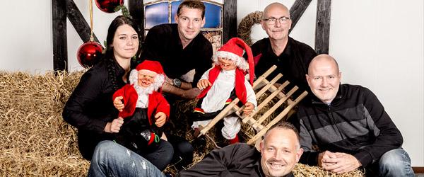 Click Sæby fotograferer til julekort hos SuperBest