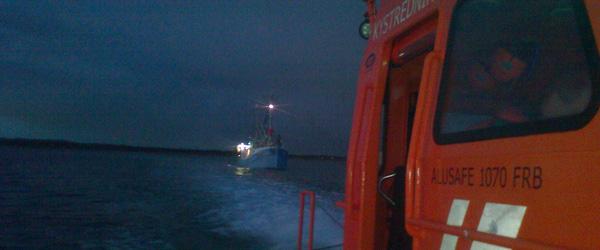 Sæby Redningsstation hjalp<br> fiskekutter med maskinen