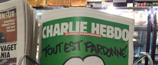 Satiremagasinet Charlie Hebdo i Sæby