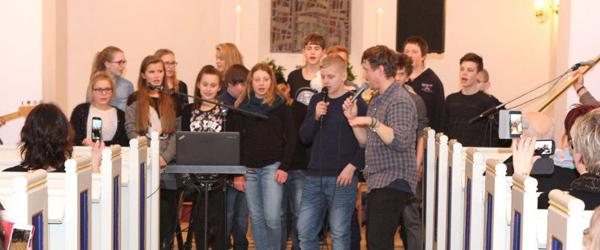 Gospelbrag i Lyngså kirke<br>…
