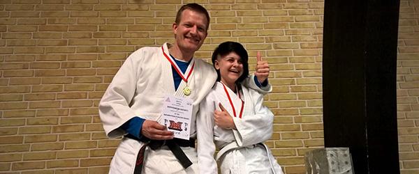 2 gange guld ved Judo Vendelbomesterskabet 2015