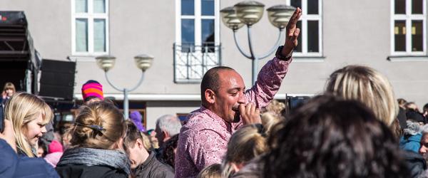 Wafande gav super koncert på Sæby Torv