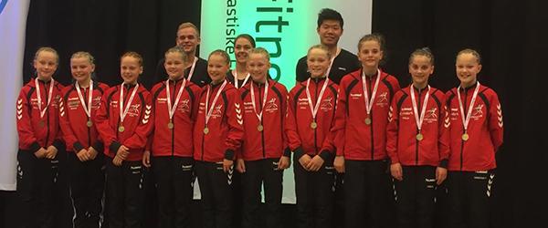 DM guld i 2. division til Springteam Sæby minipiger