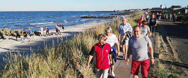 Beachwalk i flot sensommervejr…