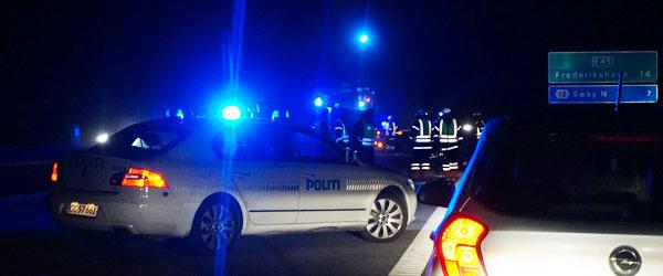Spirituspåvirket bilist endte på taget