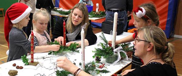 Stensnæsskolen inviterede børnene til dekorationsdag