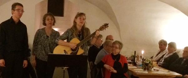 Oplev Trio A Capella til sang i slotskælderen