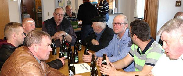 Ølsmagning og pølsebord i Lyngså Boldklub