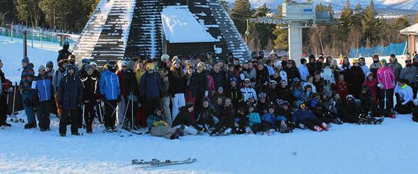 Fællesskab på ski<br>…