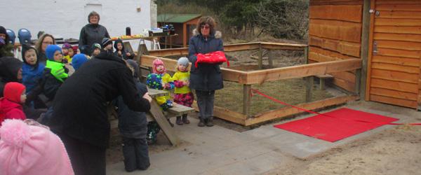 Indvielse af ny stald på Børnegården
