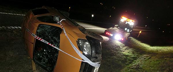 Peugeot Partner væltede på Motorvej E45…