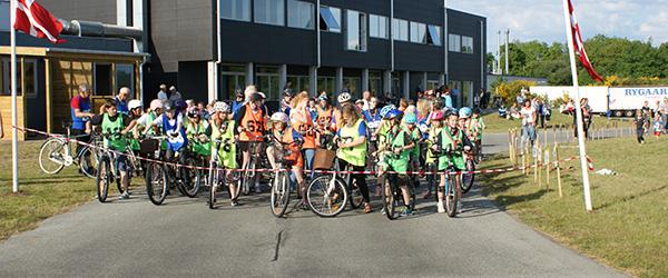 Cykelsponsorrally på Grøns Køretekniske anlæg
