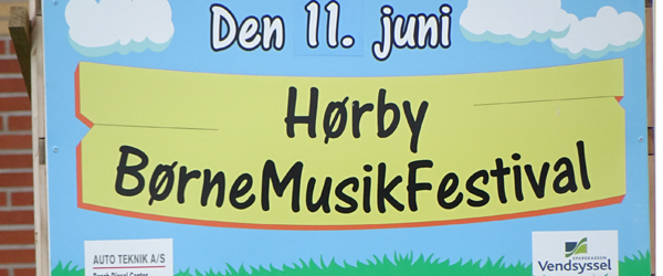 Hørby BørneMusikFestival<br> spiller 11. juni for 3. år i træk