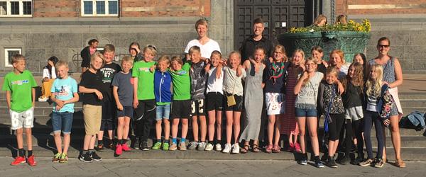 4. klasse fra Sæby til Skole OL i København