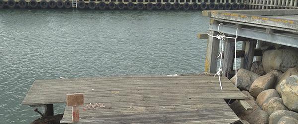 Hvad er der sket ved molen på Sæby Havn?