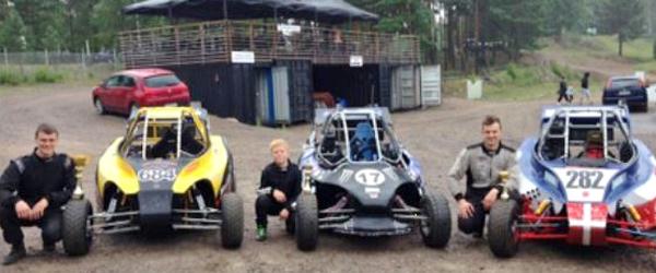 Tre hurtige kørere havde<br> god fart på i Finland