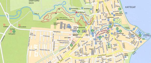 Nyt og opdateret bykort<br> og cykelkort over Sæby