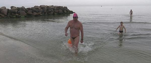 Svømmede fra Læsø til Sæby<br> på 6 timer og 33 minutter