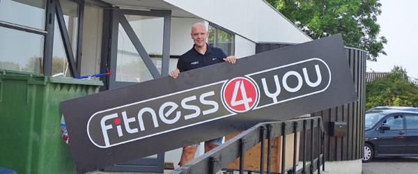 Jens Peter bliver klar til<br> at åbne Fitness4you lørdag